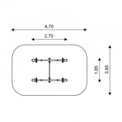 Dvigubos balansinės sūpynės SST0508