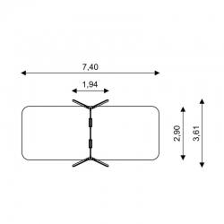 Dvivietės medinės sūpynės SWD1422-1