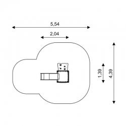 Čiuožyklėlė su laipiojimo sienele WD1403