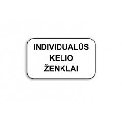 Individualių kelio ženklų...