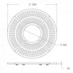 Medžių šaknų apsauga MG SOL Circular 1200x450mm