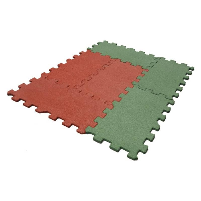 Puzzle SBR guminės plytelės vaikų žaidimų aikštelėms