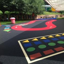Suformuota termoplastiko danga vaikų žaidimų aikštelėms