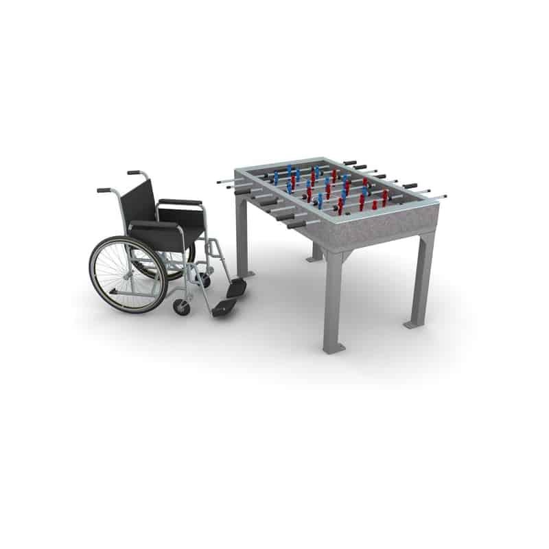 Betoninis stalo futbolo stalas ML-8005 pritaikytas neįgaliesiems