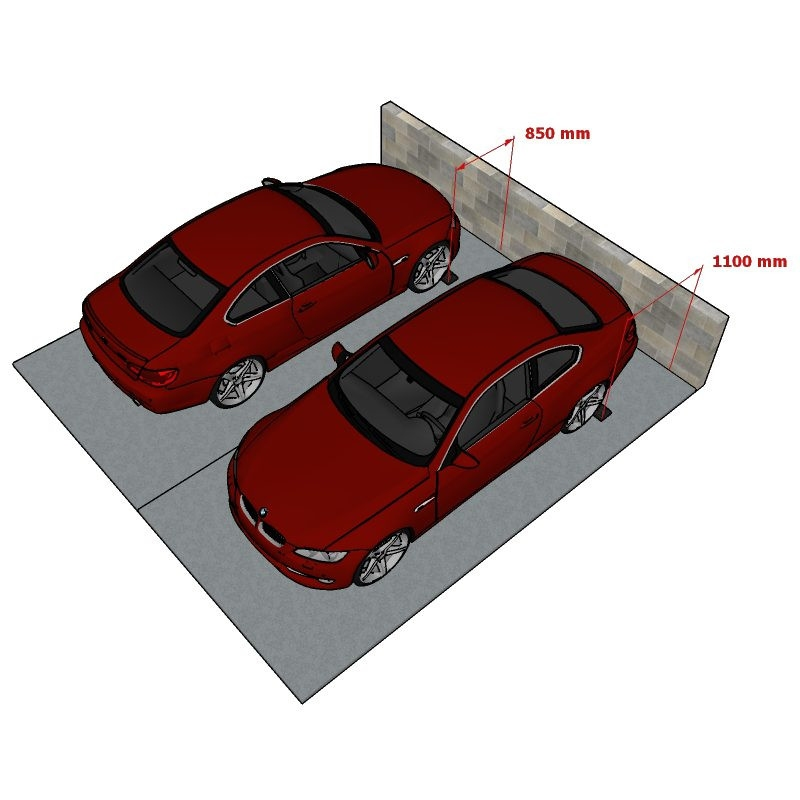 Guminis parkavimo bortelis 180cm ilgio