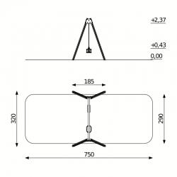 Aliumininės Sūpynės DW-Q510
