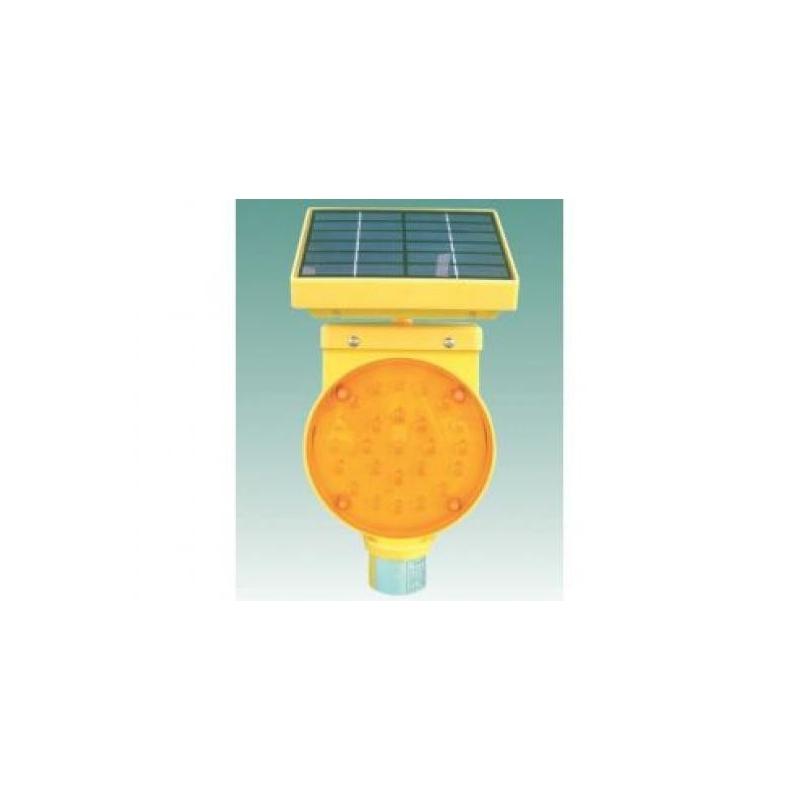 Įspėjamasis žibintas su saulės baterija