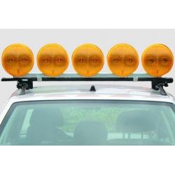 System z 5 świateł sygnałowych LED