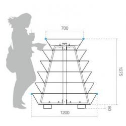 Piramidinė gėlinė H1200