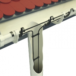 Gutters and roof protection from ice and snow system