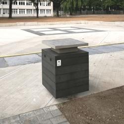 Stacionari paslaugų stotelė viešosioms erdvėms