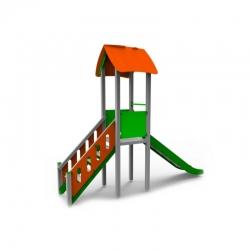 Aliumininis Vaikų Žaidimų Bokštelis Su Čiuožyklėle