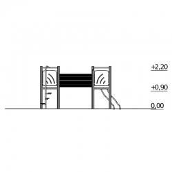 Žaidimų Aikštelė Su Tuneliu DW-R1021