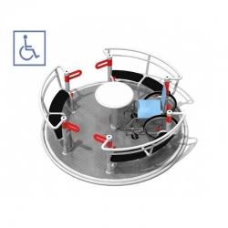 Karuselė pritaikyta žmonėms su judėjimo negalia